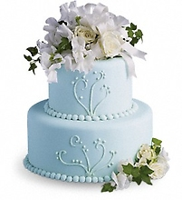 Sweet Pea and Roses Cake Decoration