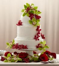 The Elegant Orchid Cake Décor