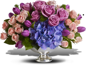 Purple Elegance Centerpiece